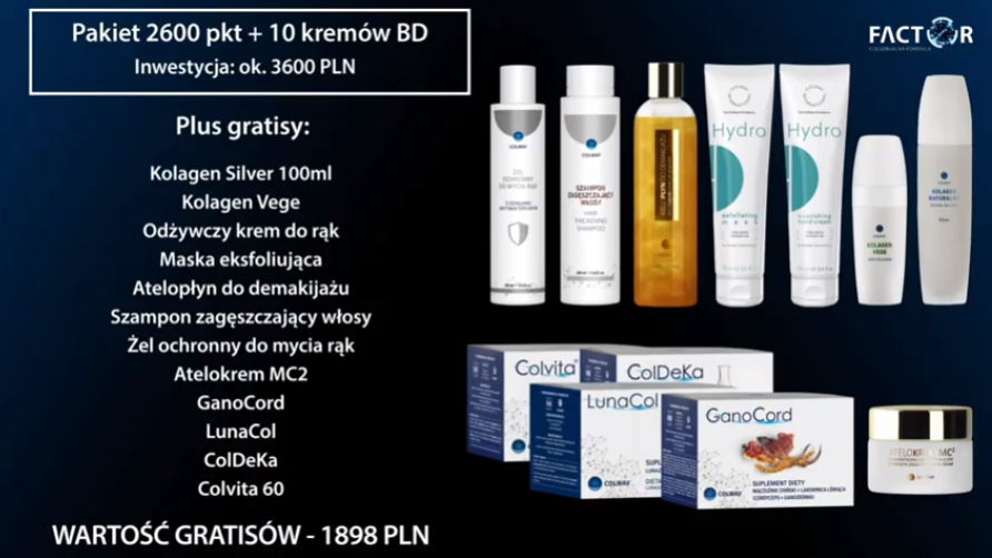 Pakiet 2600pkt + 10 Kremów Niebieski Diament